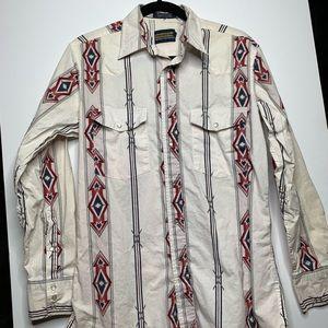 Panhandle slim western wear vintage buttondown. M
